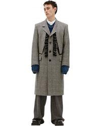 Maison Margiela Пальто С Жабо - Серый