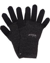 Yohji Yamamoto Wool Gloves - Grey
