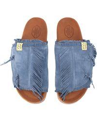 Visvim Christo Shaman-folk Sandals - Blue