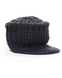 Yohji Yamamoto Gray Knitted Wool Cap