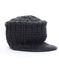 Yohji Yamamoto Grey Knitted Wool Cap