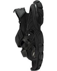 Balenciaga Черные Сандалии Track На Липучках - Черный