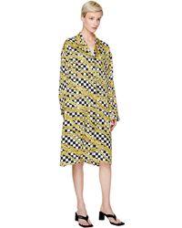 Balenciaga Платье Pajama С Принтом В Виде Цепей - Желтый