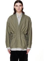 Visvim Peerless Cotton Kimono Jacket - Green