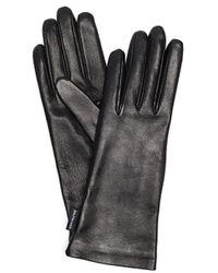Balenciaga Black Leather Gloves