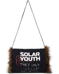 Raf Simons Муфта Solar Youth Из Искусственного Меха - Черный