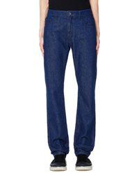 Raf Simons Blue Cotton Jeans