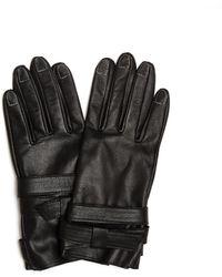 Yohji Yamamoto Кожаные Перчатки С Отстрочкой - Черный