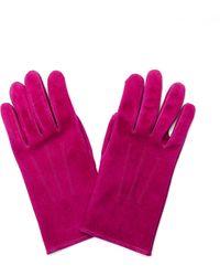 Hender Scheme Suede Gloves - Purple