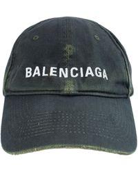 Balenciaga Потертая Кепка С Логотипом - Зеленый