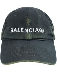 Balenciaga Logo Cap In Dark - Green