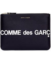 Comme des Garçons - Черный Кожаный Кошелек С Молнией - Lyst