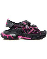 Balenciaga Черно-розовые Сандалии Track - Черный