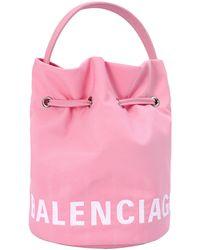 Balenciaga Розовая Сумка-ведро Wheel Xs - Розовый