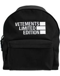 Vetements Рюкзак С Вышивкой Limited Edition - Черный