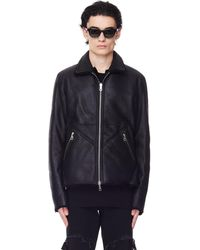 Yohji Yamamoto Black Reversible Backlash Shearling Jacket
