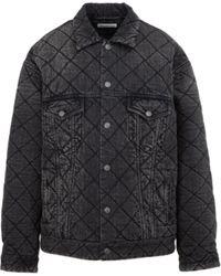 Balenciaga Джинсовая Куртка С Имитирующим Принтом - Серый