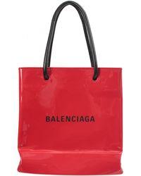 Balenciaga Сумка Shopping Tote Xxs Из Лакированной Кожи - Красный
