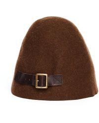 Hender Scheme Brown Wool Bucket Hat