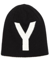 Y's Yohji Yamamoto Двусторонняя Шерстяная Шапка - Черный