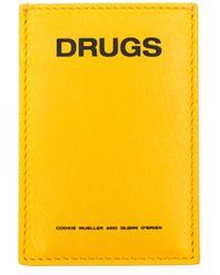 Raf Simons - Yellow 'drugs' Cardholder - Lyst