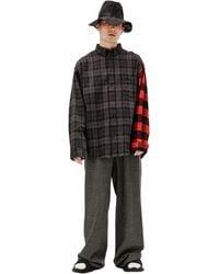Balenciaga - Хлопковая Рубашка В Клетку - Lyst