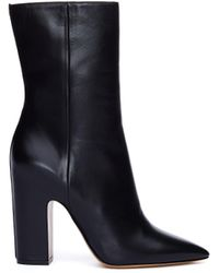 Maison Margiela Pointed Toe Leather Boots - Black