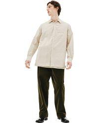 Ziggy Chen Beige Patchwork Shirt - Natural