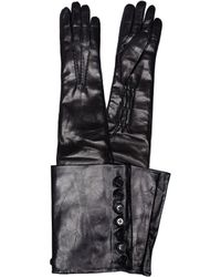 Ann Demeulemeester - Joris Black Leather Gloves - Lyst