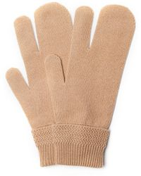 Maison Margiela Wool & Cashmere Gloves - Natural