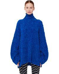 Balenciaga Blue Turtleneck Sweater