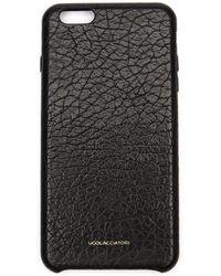 Ugo Cacciatori Iphone 6 Plus Textured Leather Case - Black