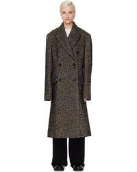 Maison Margiela Двубортное Пальто Из Шерстяного Микса - Многоцветный