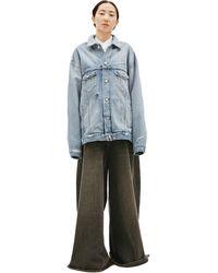 Balenciaga Джинсовая Куртка С Вышивкой На Спине - Синий