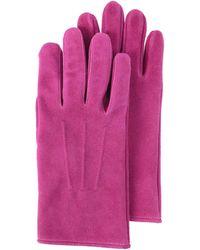 Hender Scheme Фиолетовые Перчатки Из Замши - Пурпурный