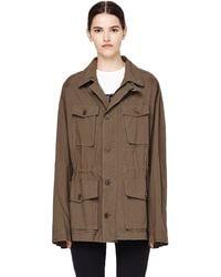 Urban Zen - Khaki Poplin Safari Style Jacket - Lyst