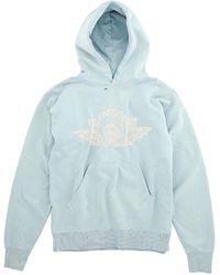 Saint Michael Blue Printed Hoodie