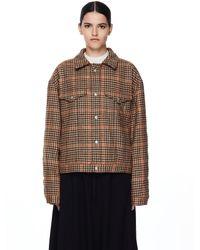 Maison Margiela - Шерстяная Куртка В Клетку - Lyst