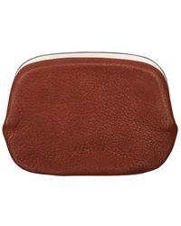 Hender Scheme Leather Snap Purse - Brown
