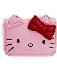 Balenciaga Кожаный Кошелек Hello Kitty - Розовый
