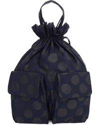 Y's Yohji Yamamoto - Navy Blue Polka Dot Backpack - Lyst