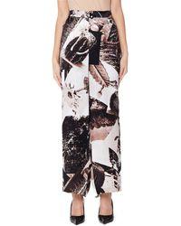 Y's Yohji Yamamoto - Printed Brown Trousers - Lyst