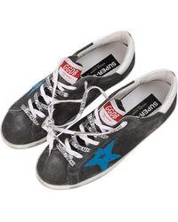 Golden Goose Suede Superstar Sneakers - Grey