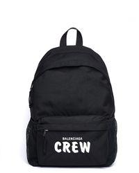 Balenciaga Рюкзак С Вышивкой Crew - Черный