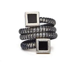 Guidi Серебряное Кольцо-спираль С Ониксом - Многоцветный