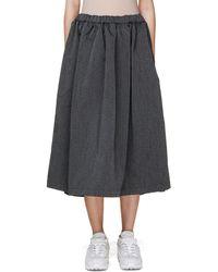 Comme des Garçons Gray Pleated Skirt