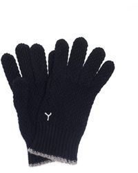 Y's Yohji Yamamoto Wool Embroidered Gloves - Black