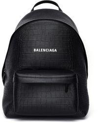 Balenciaga - Черный Рюкзак Из Фактурной Кожи - Lyst