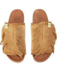 Visvim Christo Shaman-folk Sandals - Brown