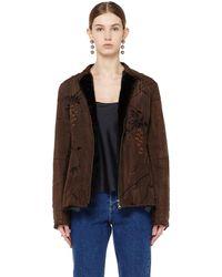 By Walid - Mink Fur Lined Silk Jacket - Lyst